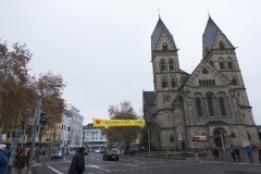 Kletteraktion gegen Urantransporte in Koblenz am 30.11.2018