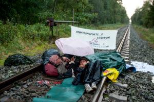 Uranzugblockade in Gronau 5.10.17, Bild: P. Numrich