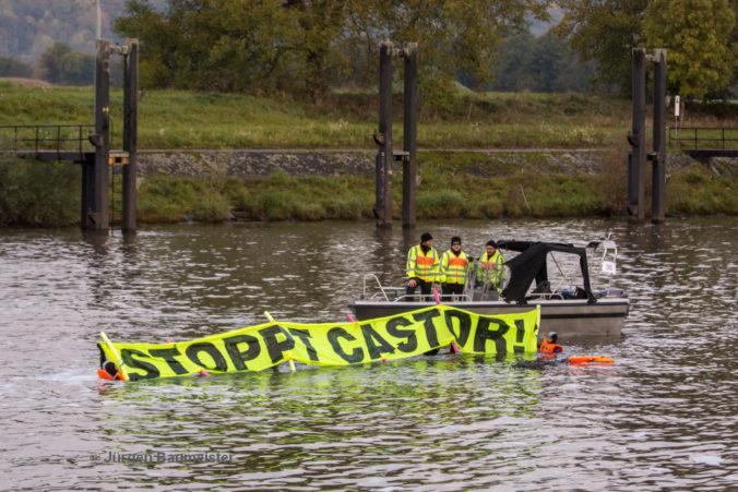 Wasserprotest gegen Neckar-Castor