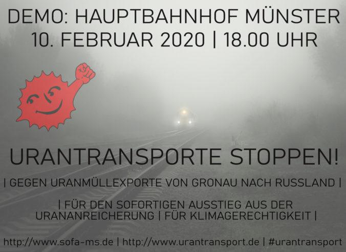 Plakat Urantransportdemo